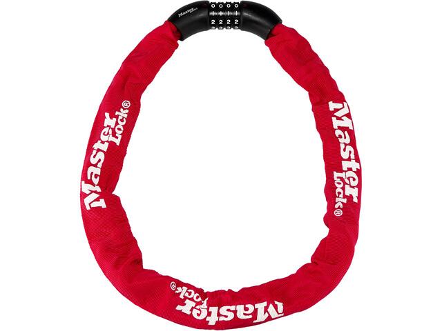 Masterlock 8392 candado de cadena 8x900mm, rojo